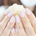 紫,ジェルネイル,シンプル,きれい,春カラー,美爪