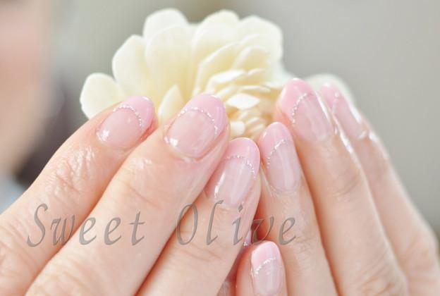 ピンク,フレンチネイル,ジェルネイル,シンプル,可愛い