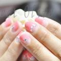 夏,ピンク,逆フレンチネイル,可愛い