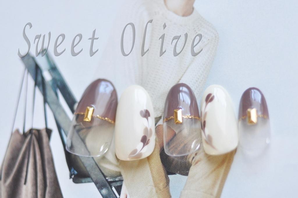 チョコレート,バレンタインネイル,2015年,ラテアート,ジェルネイル,大人,モテネイル