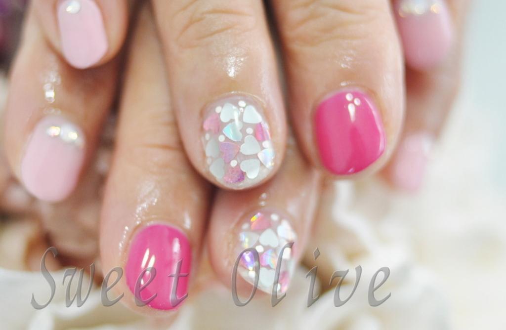 ハートホロ,埋めつくし,女の子,可愛い,春デザイン、スプリング,ピンク,2015年