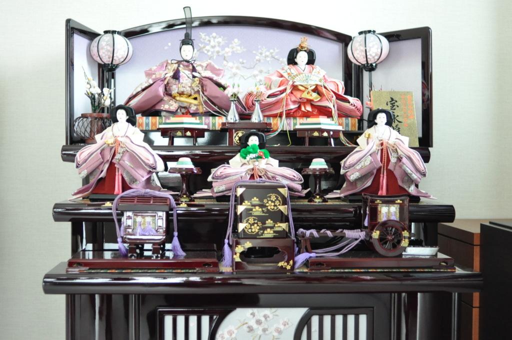 3段飾り,お雛様,雛飾り,紫,岩槻,上品,自宅ネイルサロン