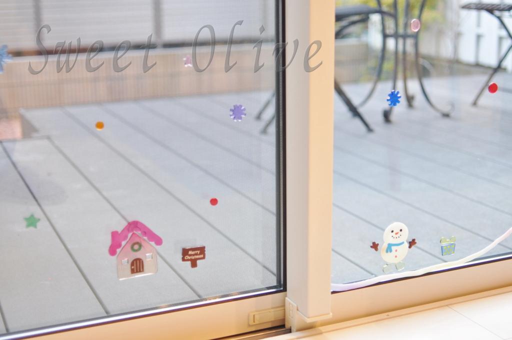 窓,クリスマス,シール