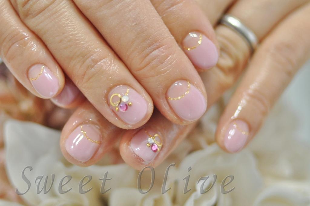 春ピンク,逆フレンチネイル,幼稚園ママ,可愛い,ショートネイル,短い爪に似合う