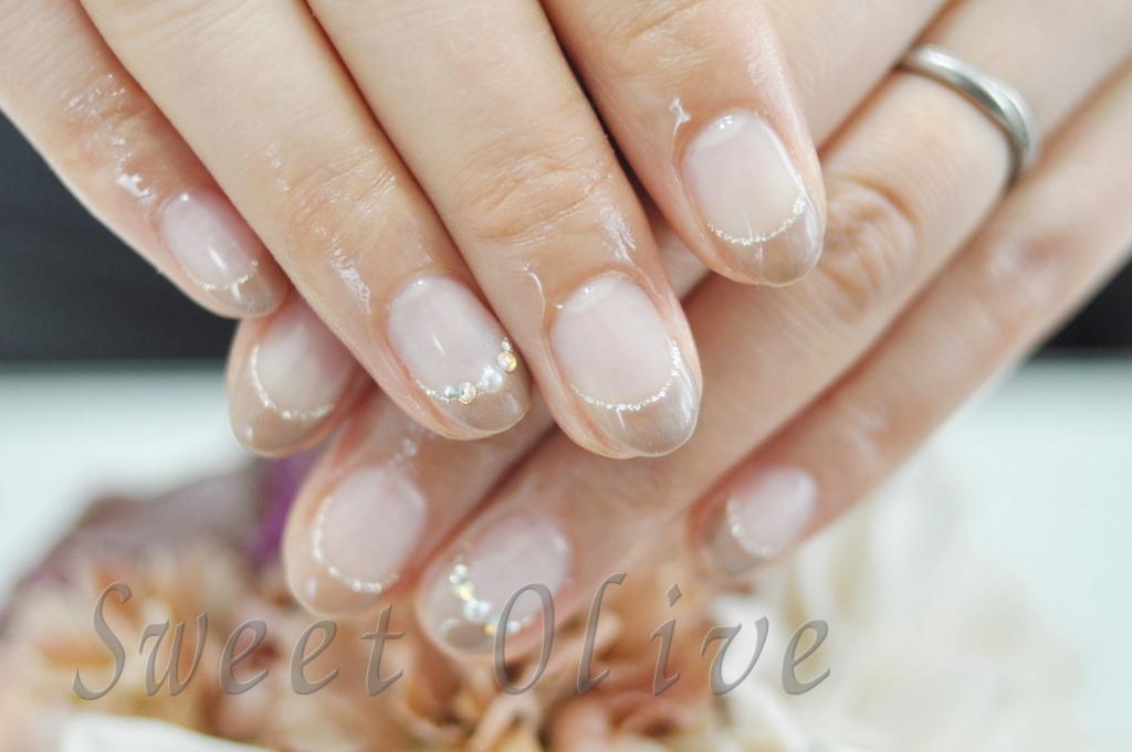美爪,美しい,春ネイル,2016年,フレンチネイル,グレージュ