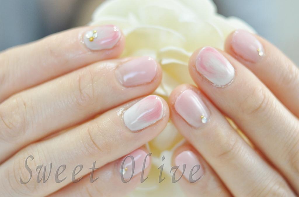 さくらネイル,桜色,春ネイル,2016年,マーブル模様,ピンク