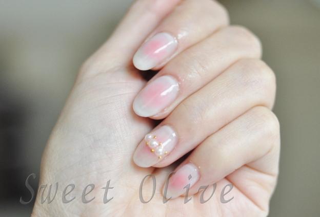 春ネイル,216年,チークネイル,ほんのりピンク,可愛い,パール