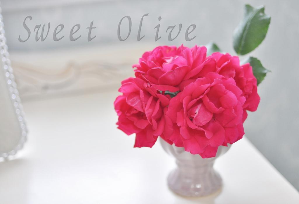 サロン部屋,自宅ネイルサロン,薔薇の花