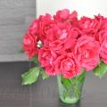 庭のバラ,おすそ分け,薔薇,ローズ,花瓶,自宅ネイルサロン
