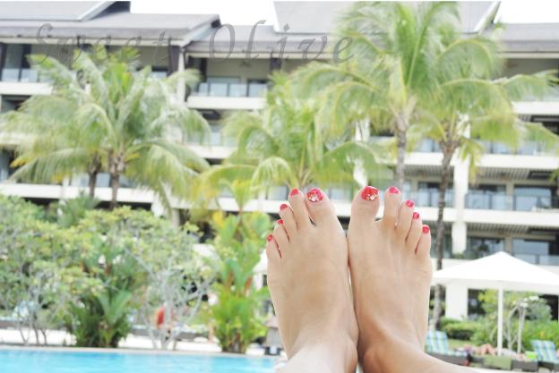 ボルネオ島,マレーシア,シャングリララサリアリゾートホテル,自宅ネイルサロン,プール