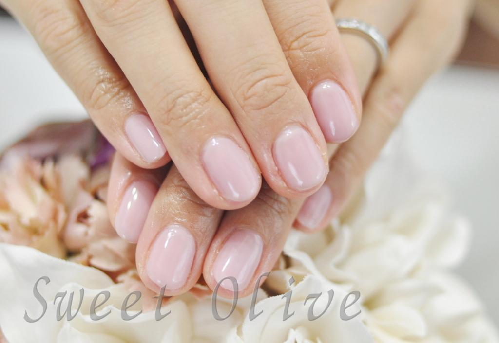 淡いピンク,秋ネイル2016年,一色塗り,全塗り