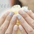 根元フレンチ,ピンク,雪の結晶,グレー,冬ネイル2017年