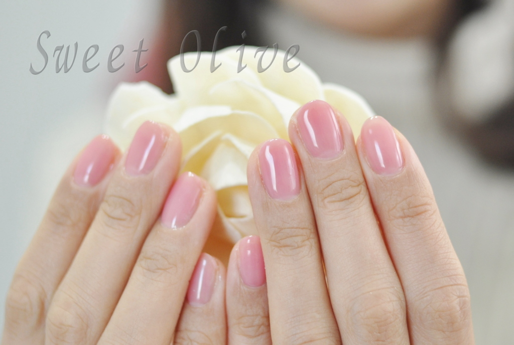 透け感ピンク,一色塗り,春色,春ネイル2017年,シンプルオフィスネイル
