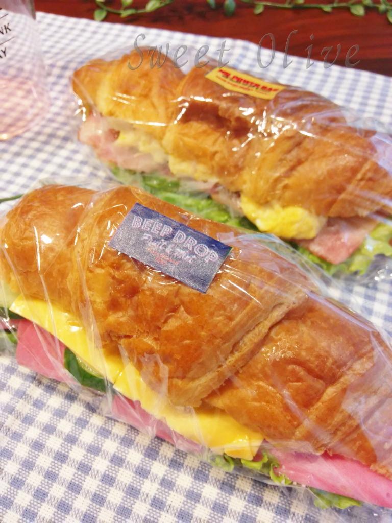 クロワッサン,サンドイッチ,塾弁当,自宅ネイルサロン