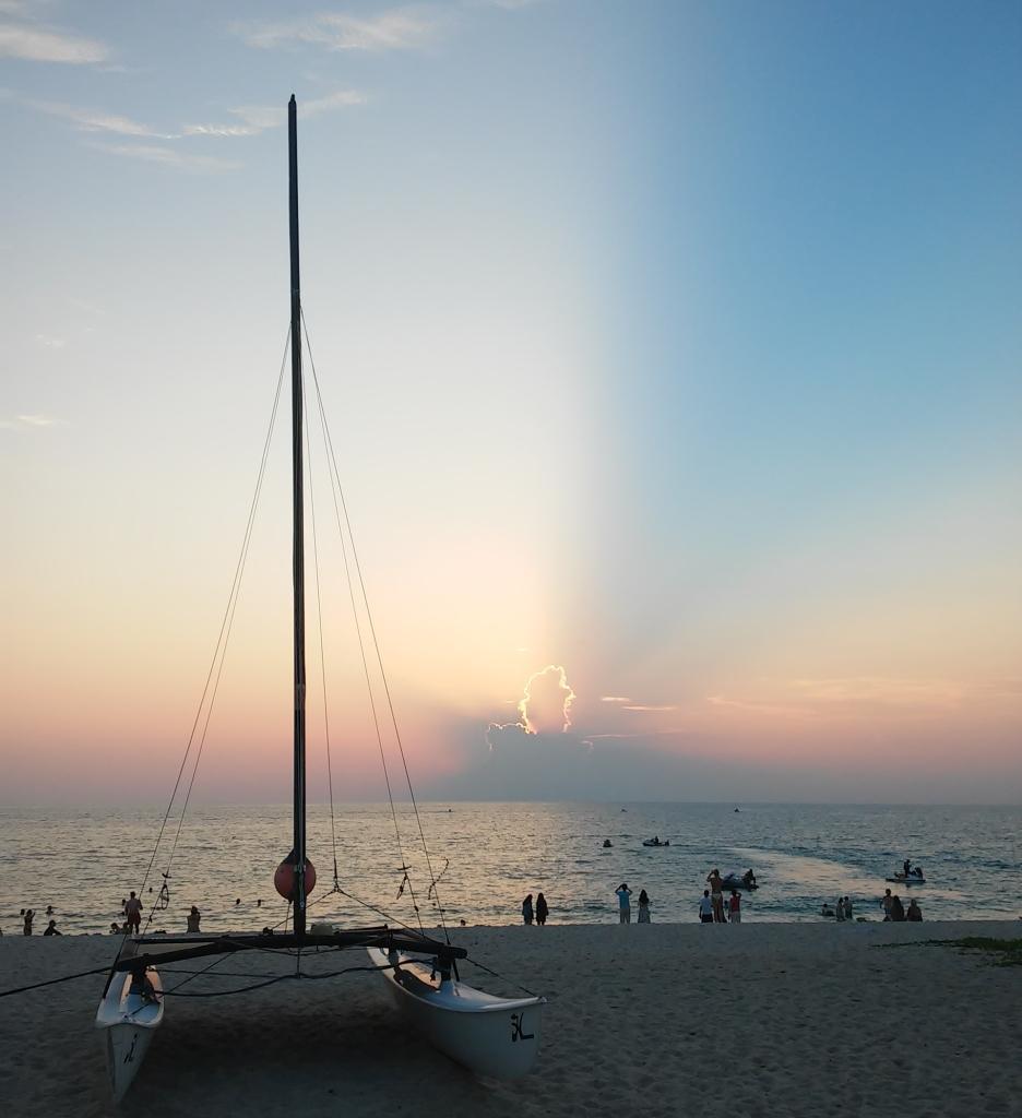 プーケット,夕日,海,夕焼け