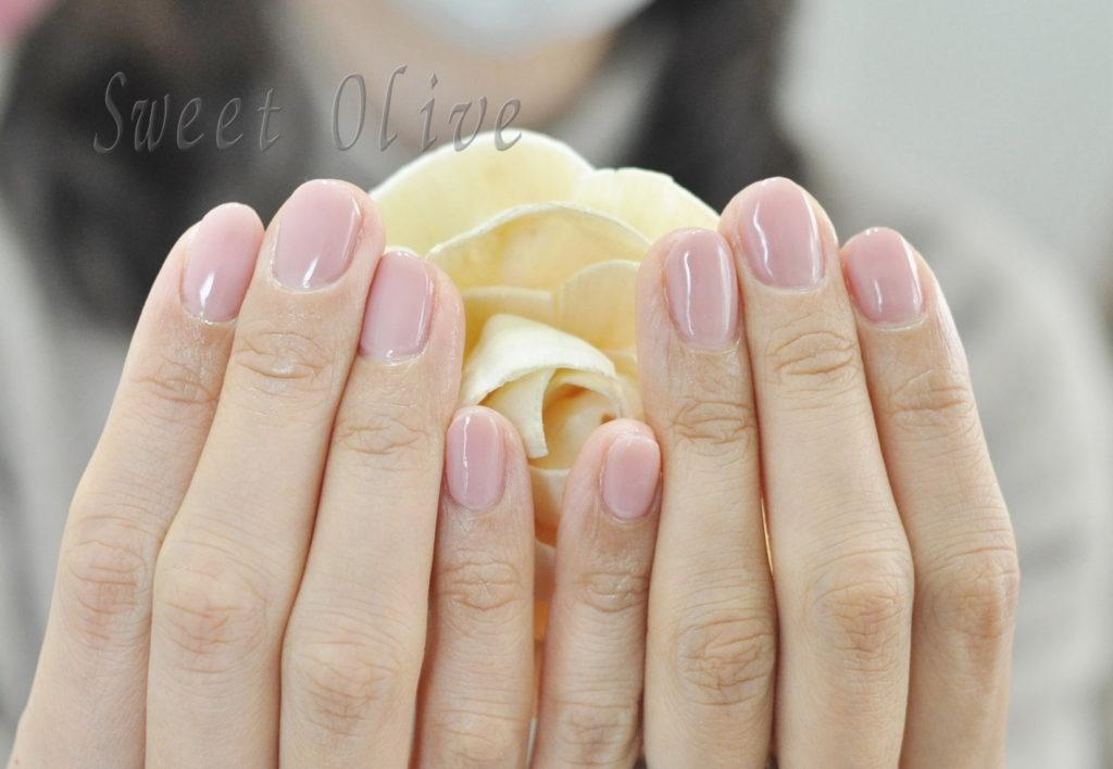 薄ピンク,さくら色,一色塗り,春ネイル2020年,オフィスネイル