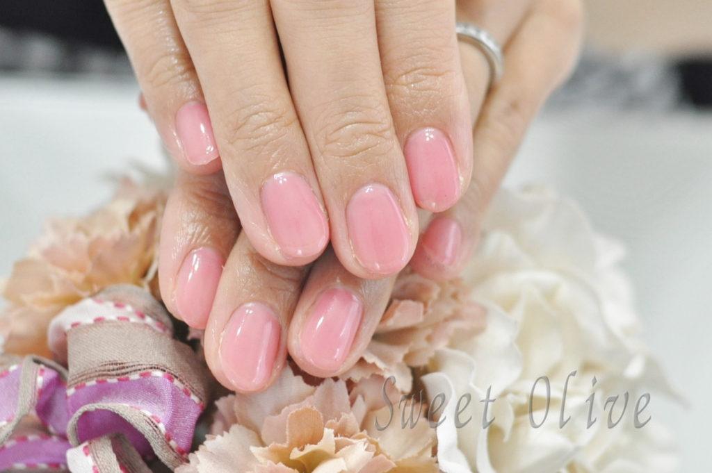 薄ピンク,一色塗り,夏ネイル2020年