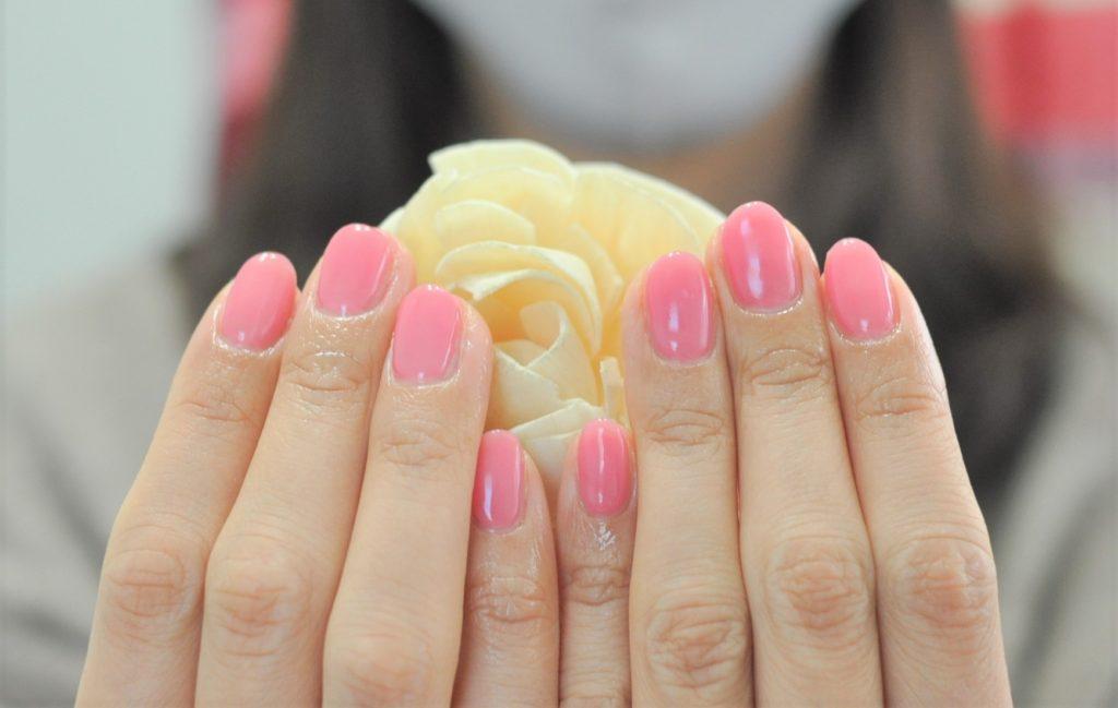 春色,ピンク,ワンカラーネイル,春ネイル2021年